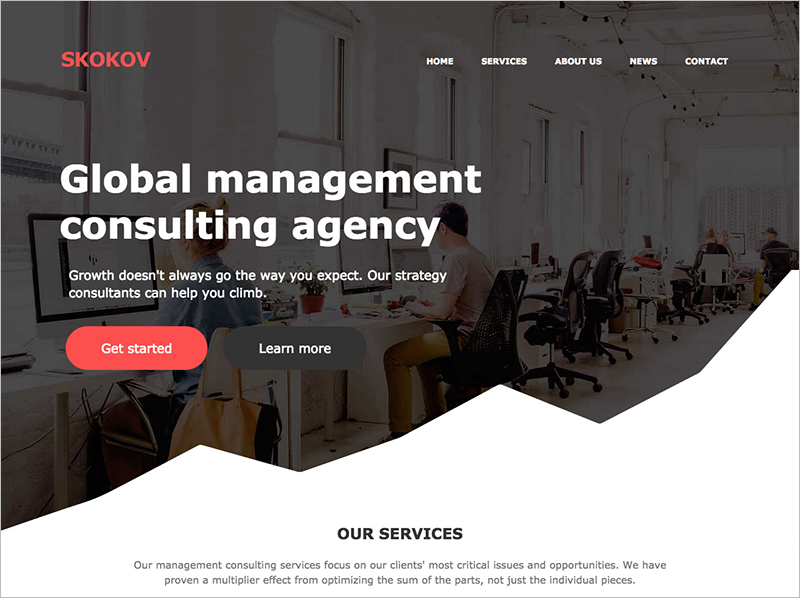 Free One Page HTML Template for Digital Agencies