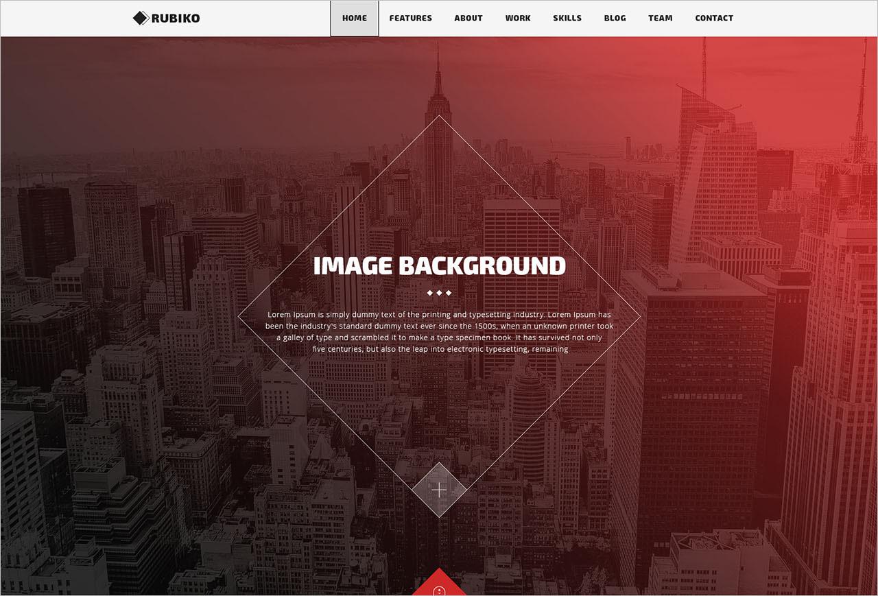Free One Page Portfolio PSD Template