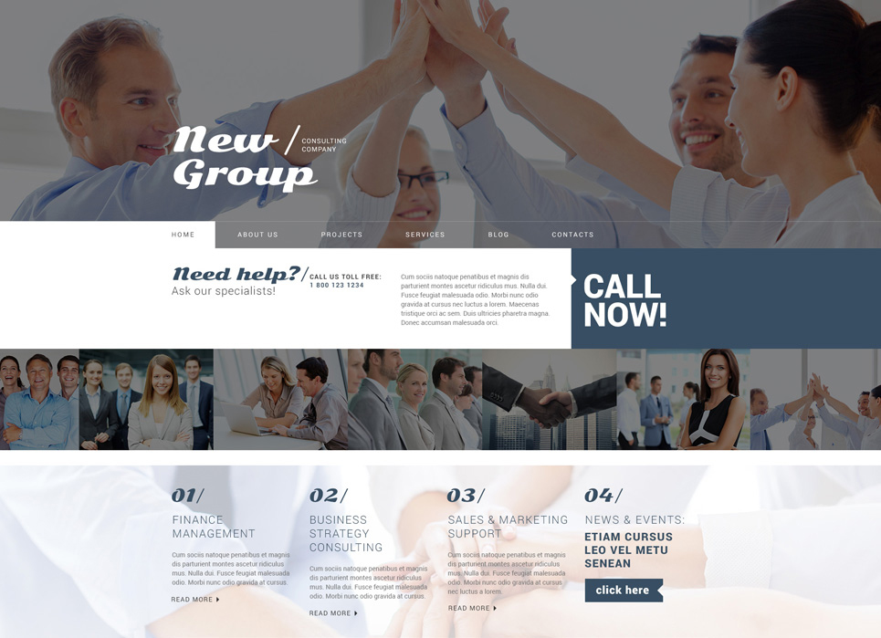 Free WordPress Theme for Consulting Company