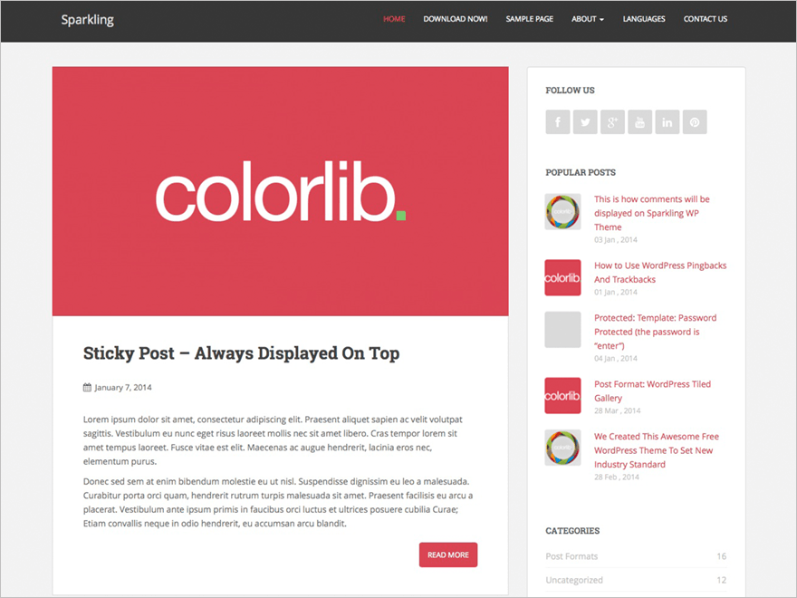 Free WordPress Theme for Personal Blogs