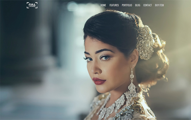 Full Screen Personal Website Template WordPress