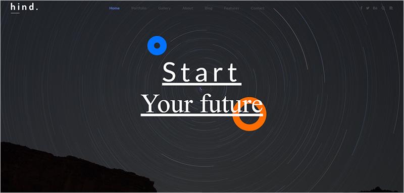 Full Screen Portfolio WordPress Theme