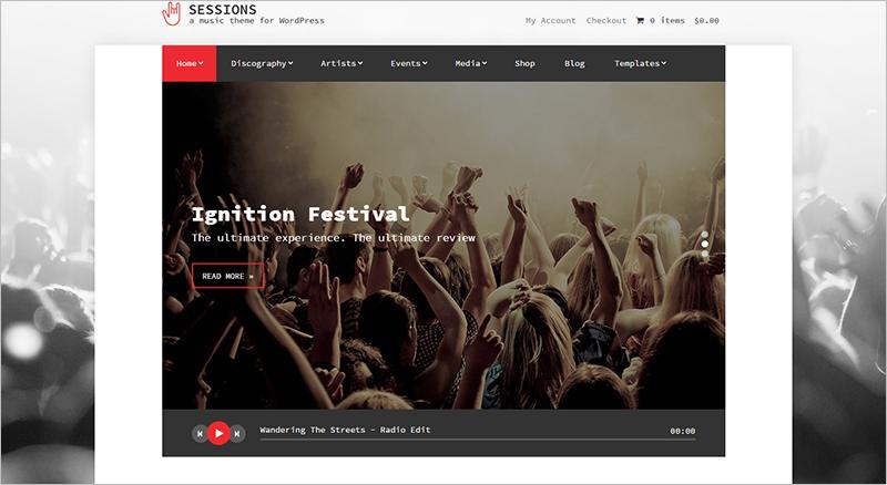 Full Screen WordPress Theme 2015