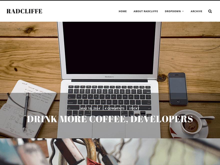 Full Width Header WordPress Template Free Download