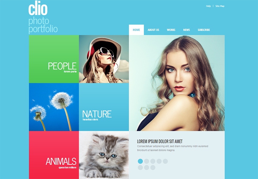 Fully Editable Photographer Portfolio Template