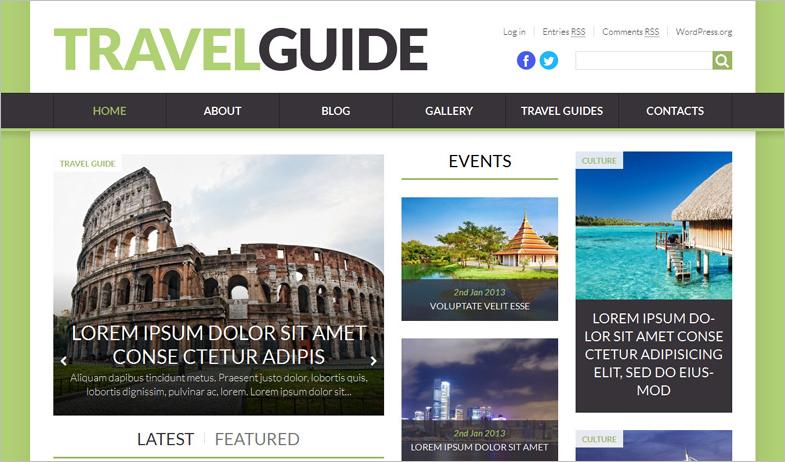 Fully Editable Travel Theme