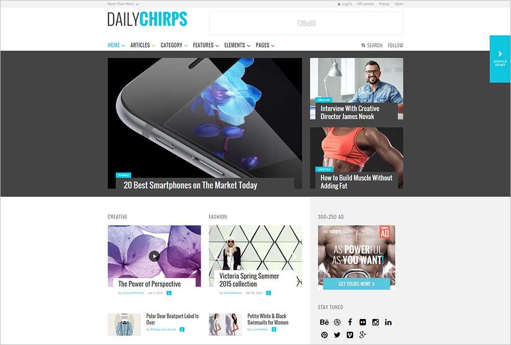 Fully Responsive Magazine WordPress Theme