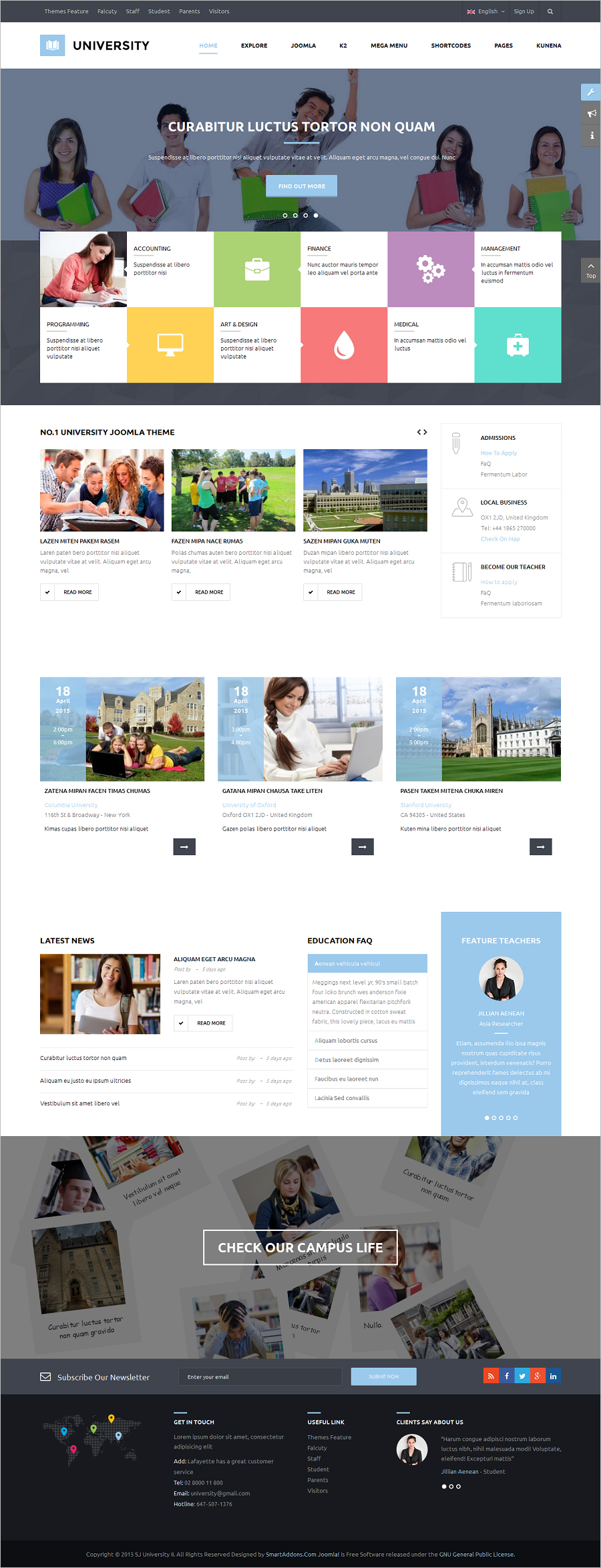 Fully Responsive Multi Purpose Education Template