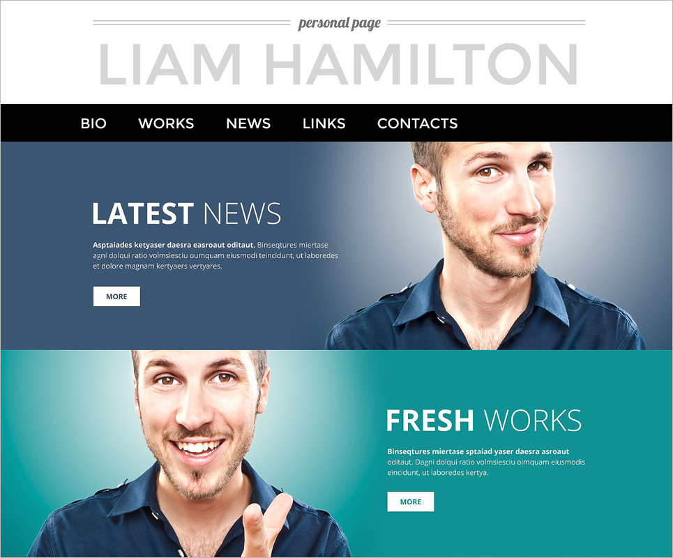 Fully Responsive Personal Page WordPress Theme