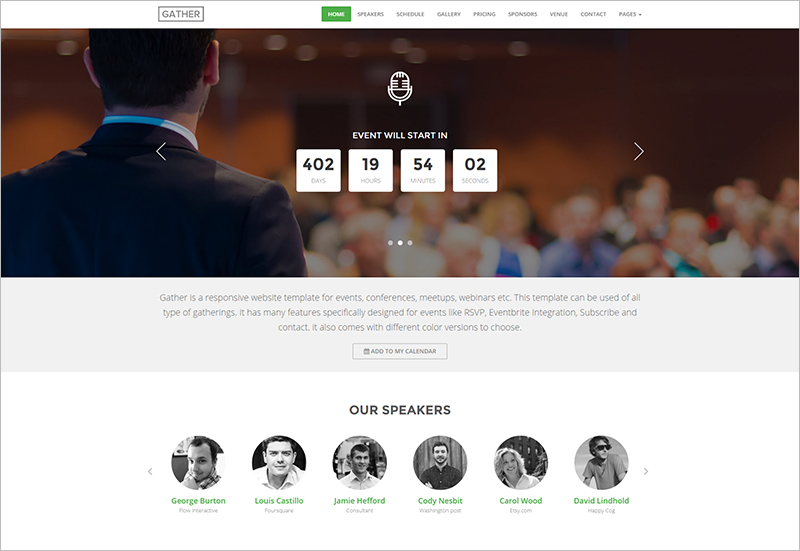 HTML5 Event Landing Page Template with Paypal Integration