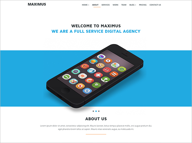 HTML5 One Page Responsive Theme