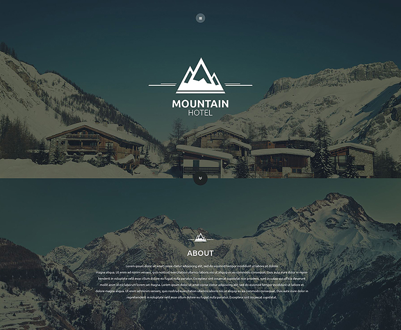 HTML5 One Page Website Templates for Hotels