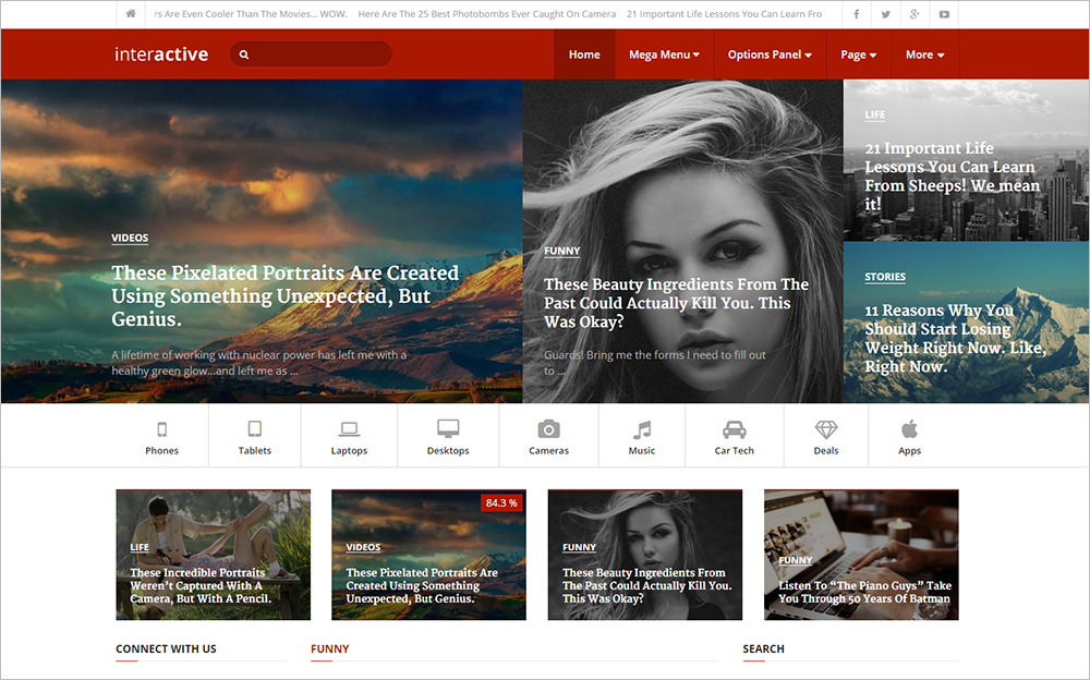 Highly Professional WordPress Magazine Theme