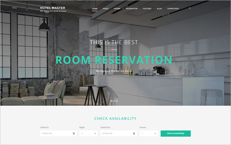 Hostel Booking WordPress Theme
