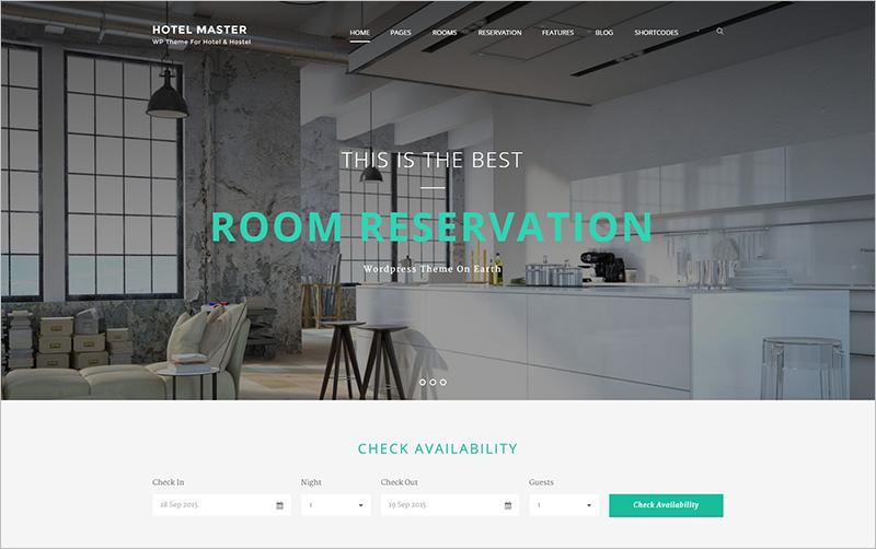Hostel Booking WordPress Theme