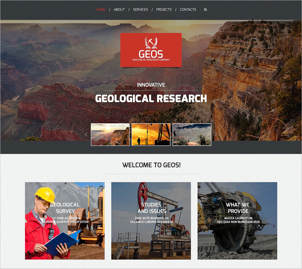 Industrial Business Responsive Website Template