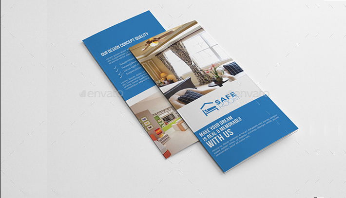 Interior Tri-Fold Brochure Template