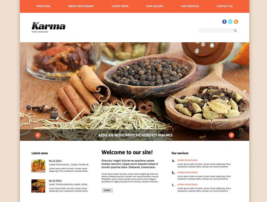 Joomla Indian Restaurant Template