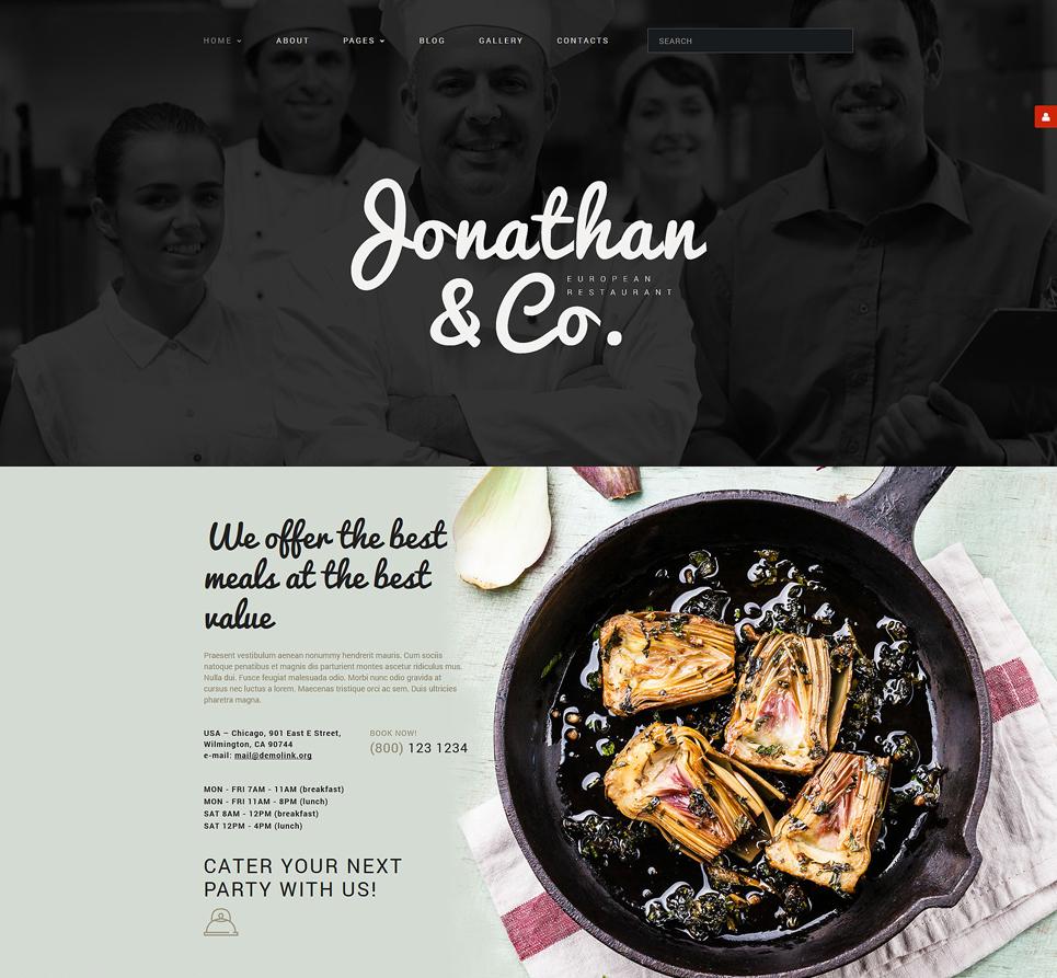 Joomla Restaurant Theme
