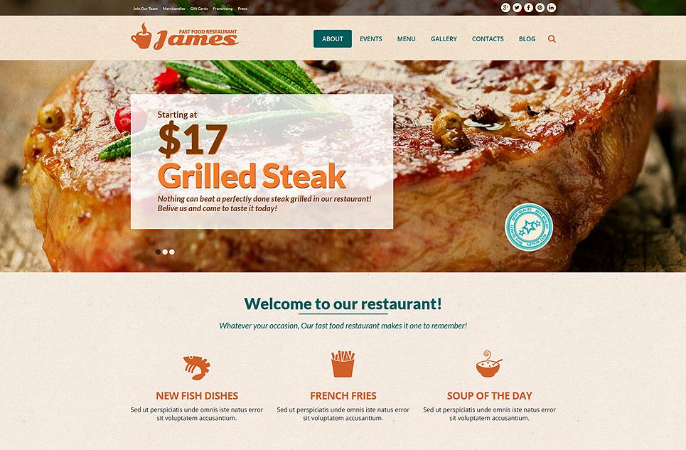 Joomla Website Template for Fas Food