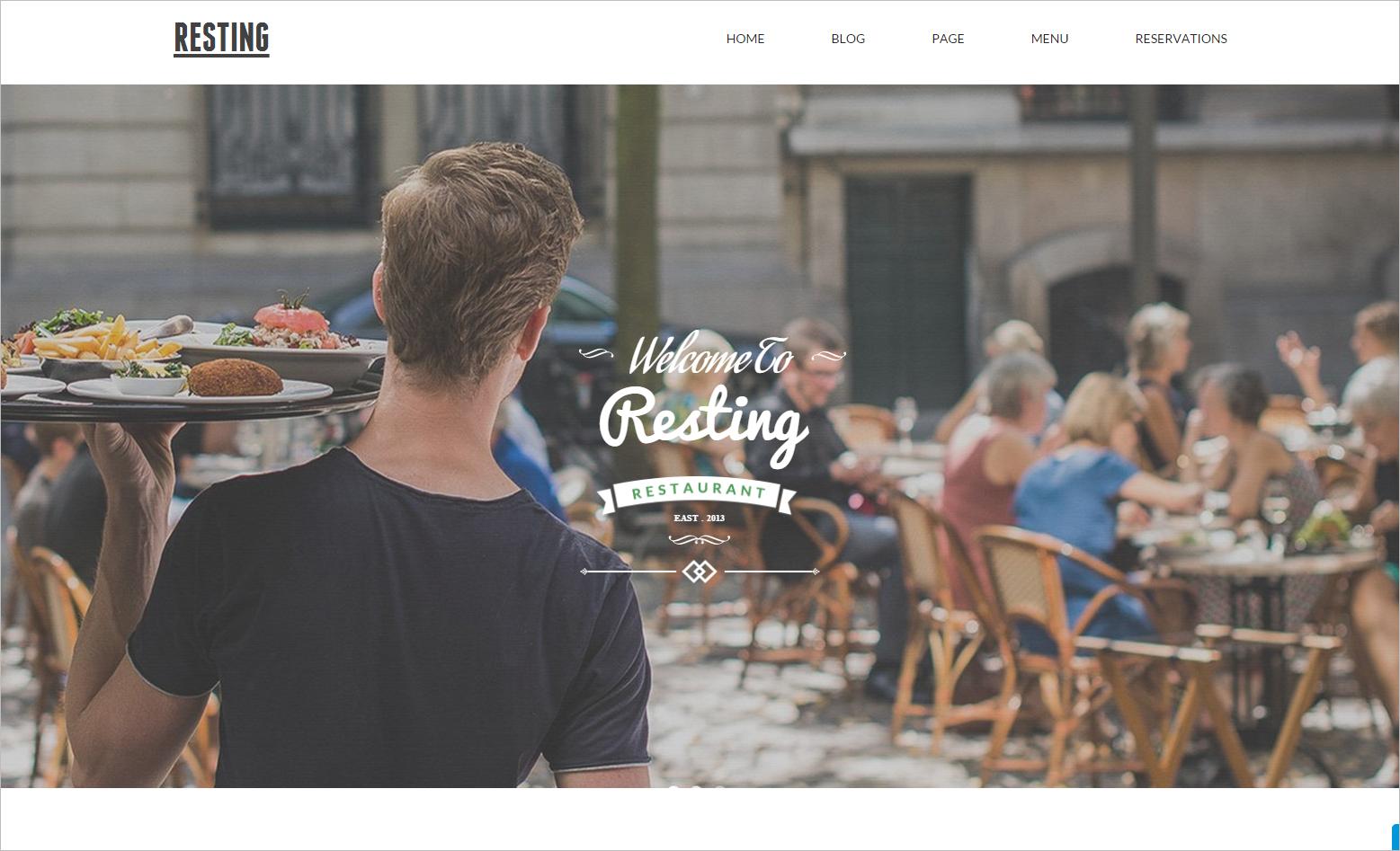 Joomla Website Template for Food Business