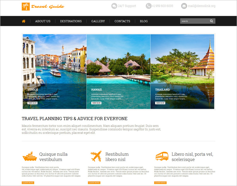 Latest Travel WordPress Theme