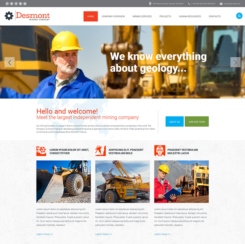 Mining Business Website Template