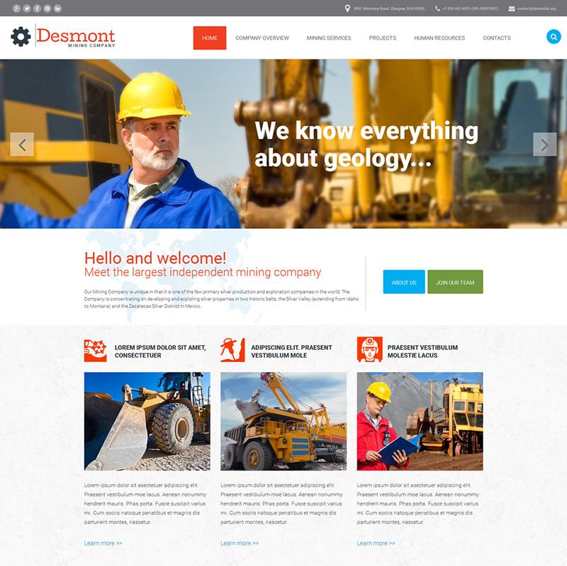 Mining Business Website Template