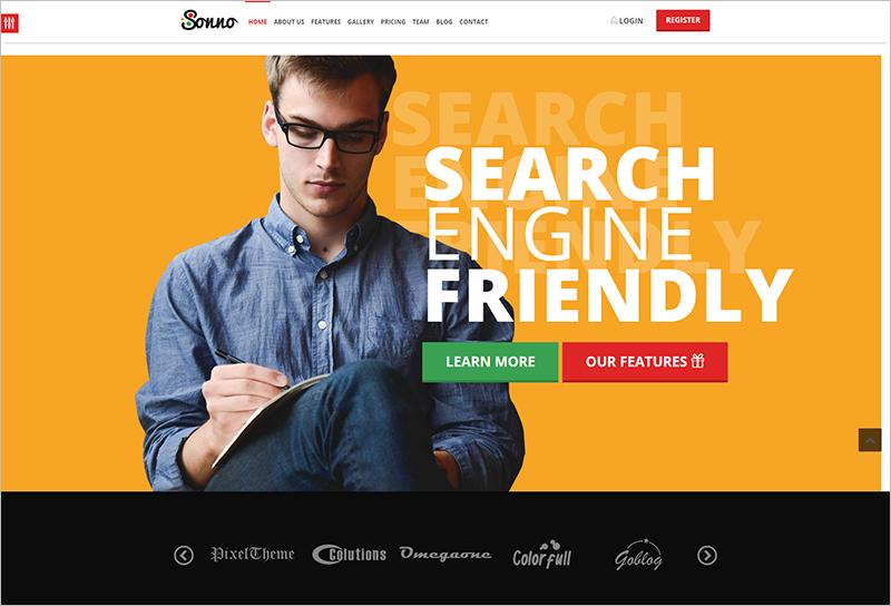 Multi Purpose Bootstrap Landing Page Template