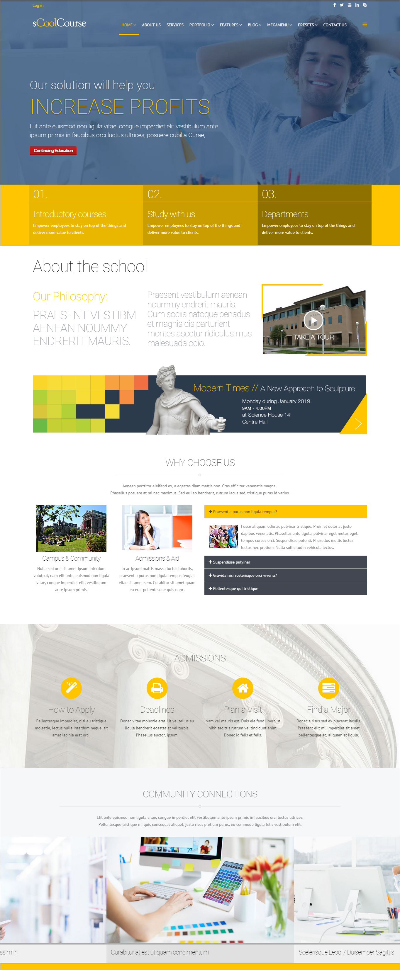 22 Best University Website Templates Psd Free Download