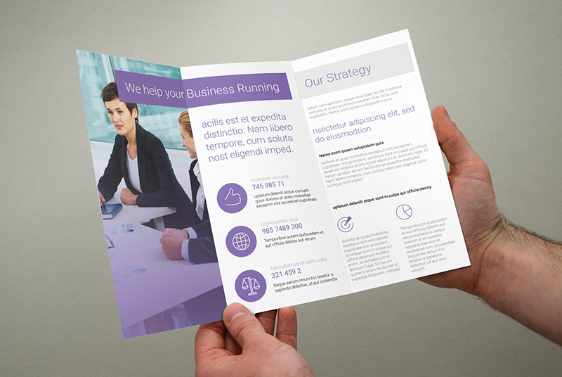Multi Purpose Trifold Brochure Template Design