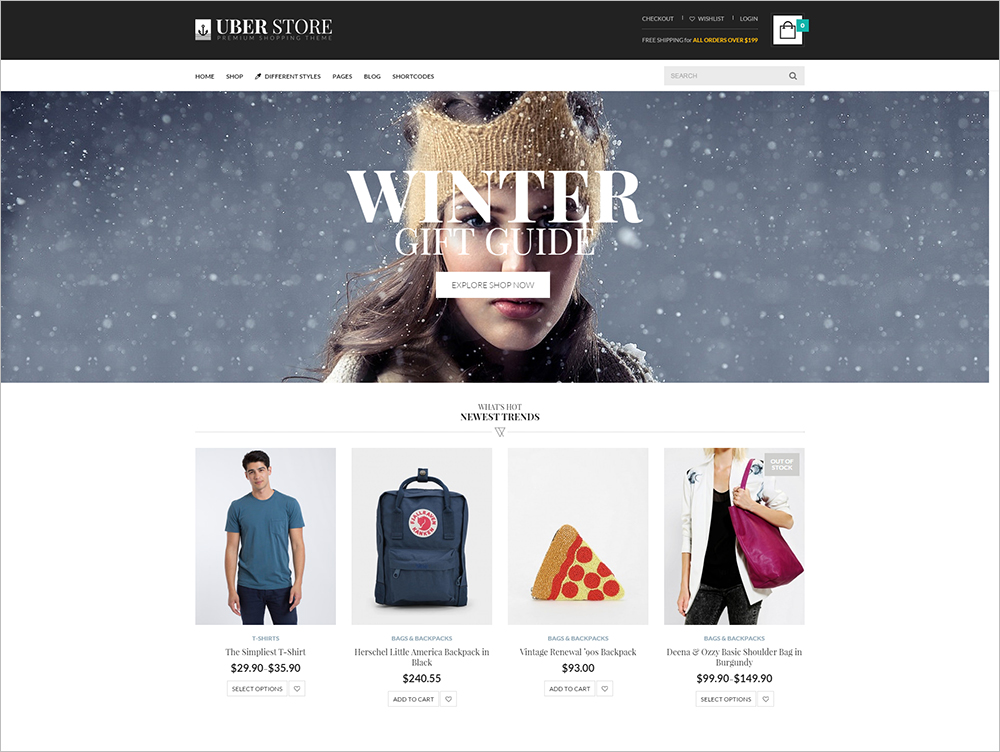 E commerce wordpress themes free premium templates creative multi purpose wordpress ecommerce website template pronofoot35fo Images