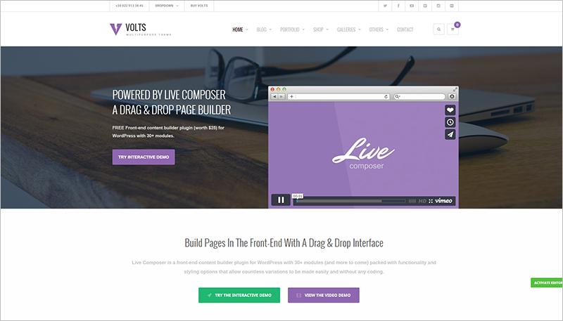 Multipurpose WordPress Tempalte Responsive
