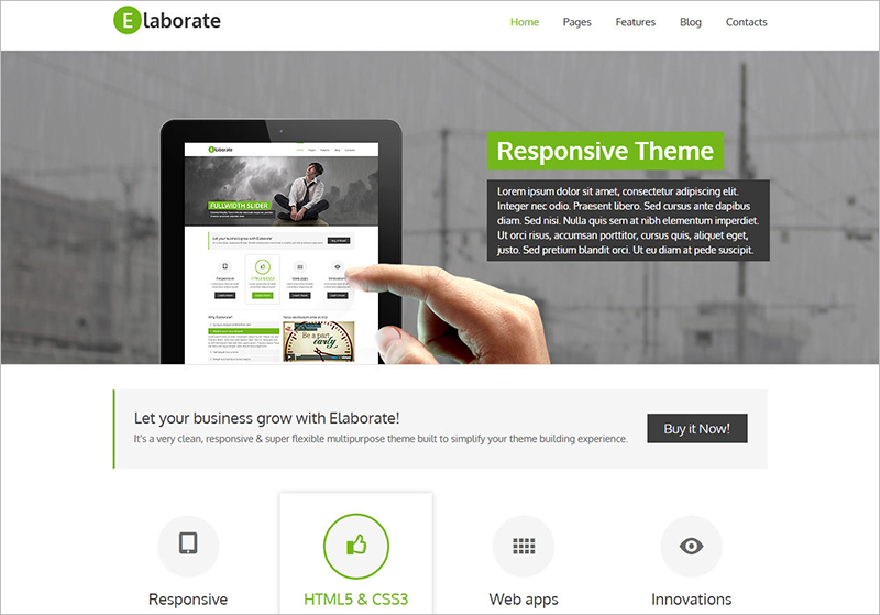 Multipurpose WordPress Template With Widgetized Footer