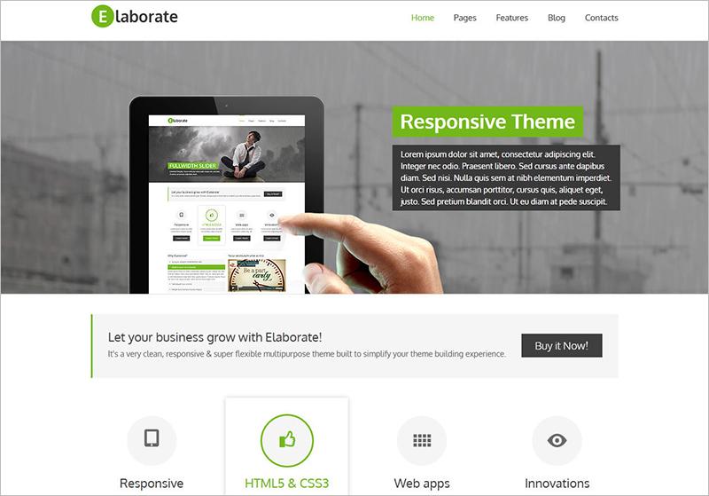 Multipurpose WordPress Template With Widgetized Footer