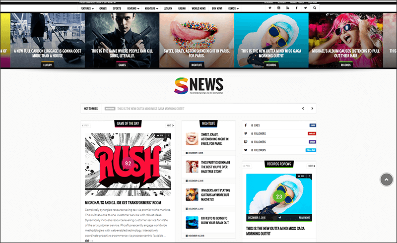 New Magazine, Reviews & Newspaper WordPress Theme