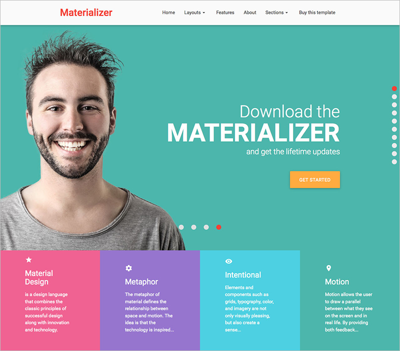 One Page HTML Landing Page Template