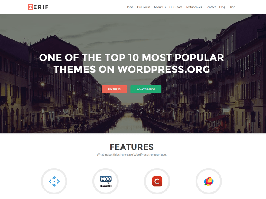 One Page WordPress Theme for Web Agency Free