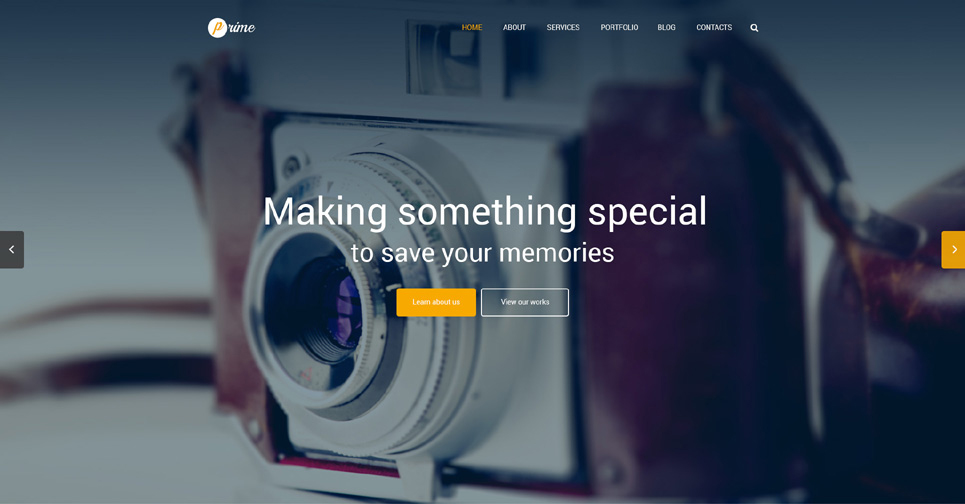 Parallax Effect WordPress Theme for Photographer Portfolio