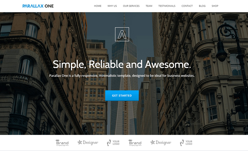 Parallax One Page HTML Website Template Free Download