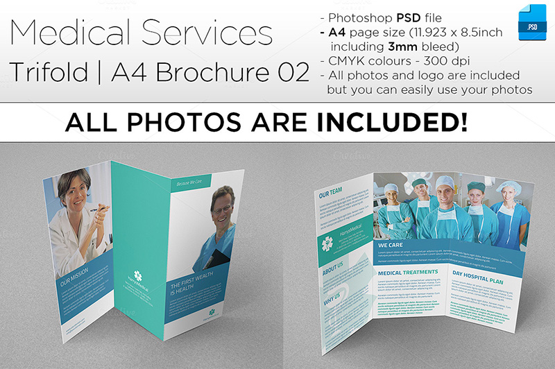 Perfect A4 Trifold Brochure for Medical