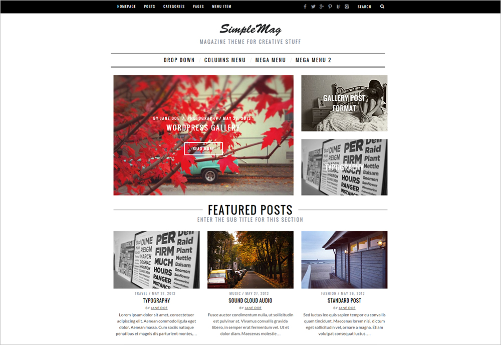 Perfect WordPress Theme for Magazine