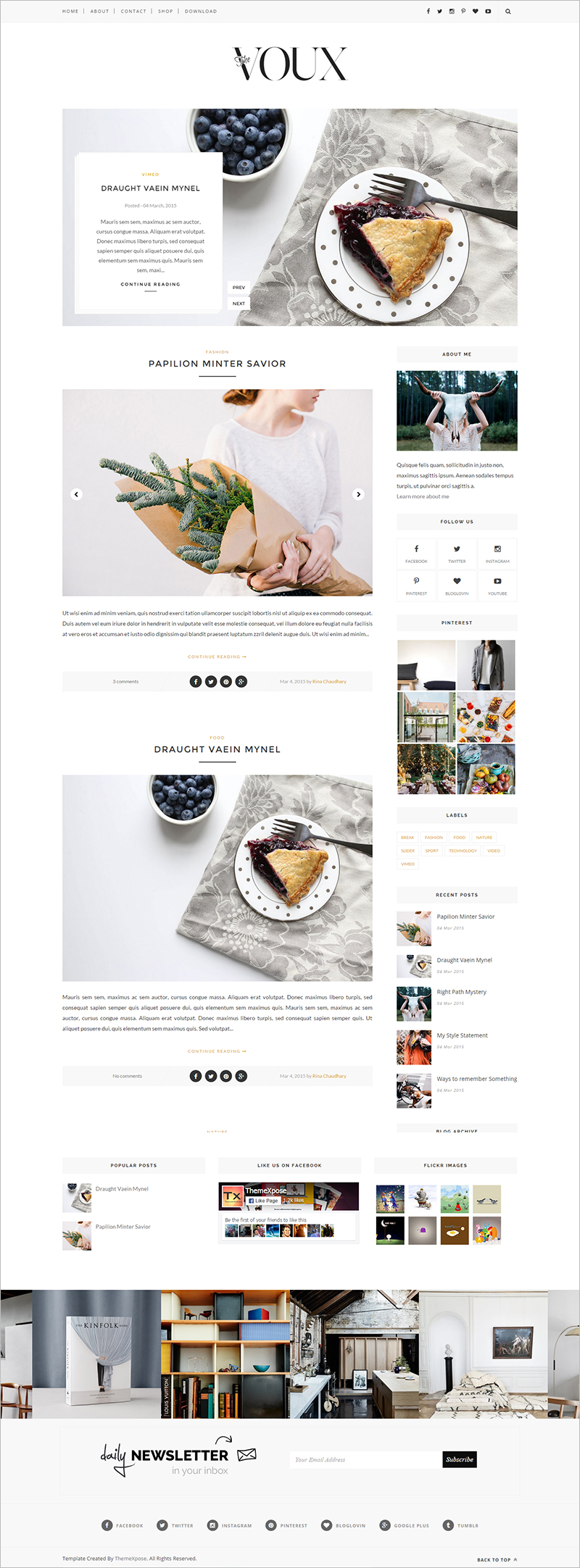 Personal Blog Website Template Free Download