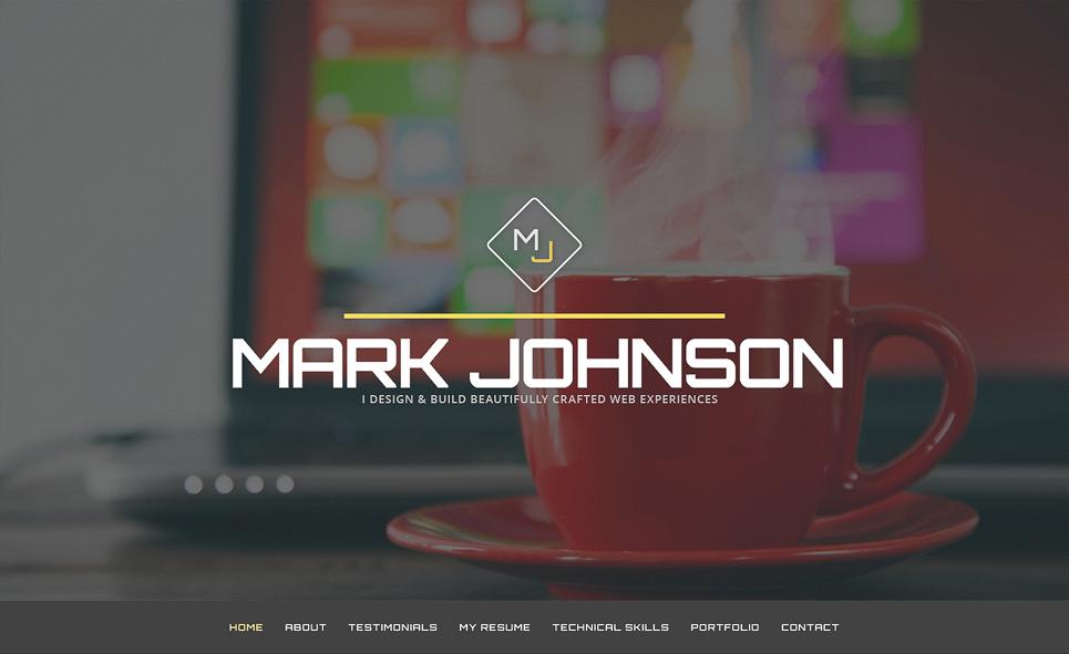 Personal Page WordPress Theme for Web Designer