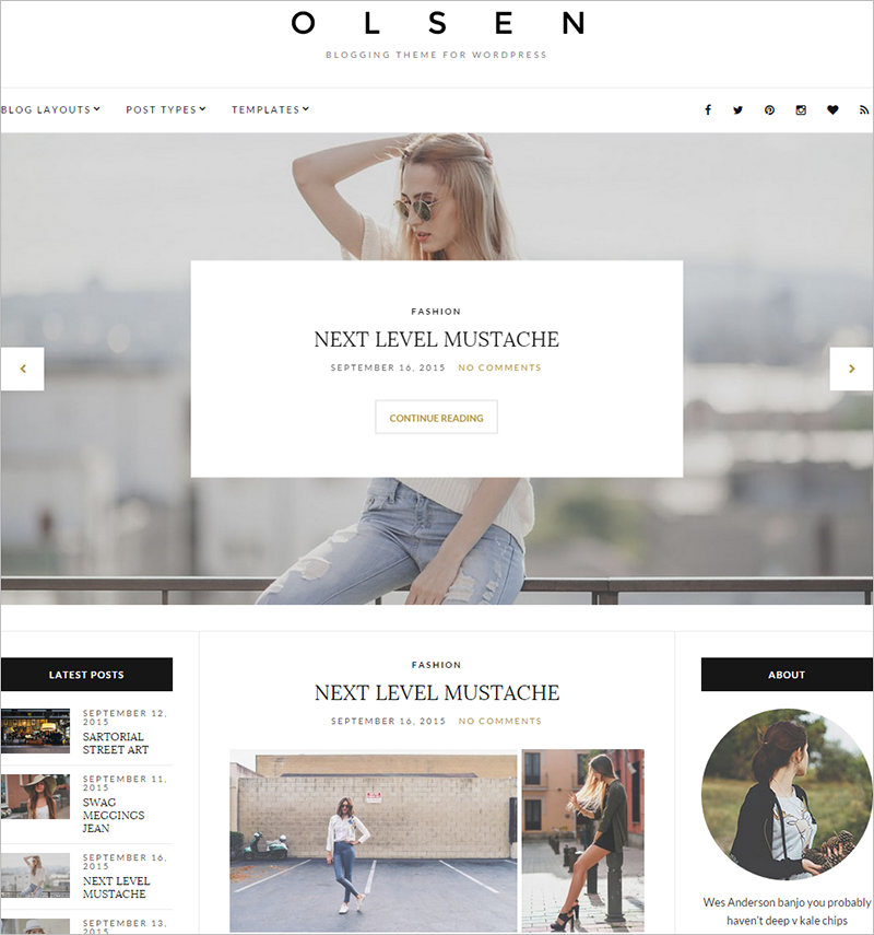 Personal Portfolio WordPress Theme With Live Editing
