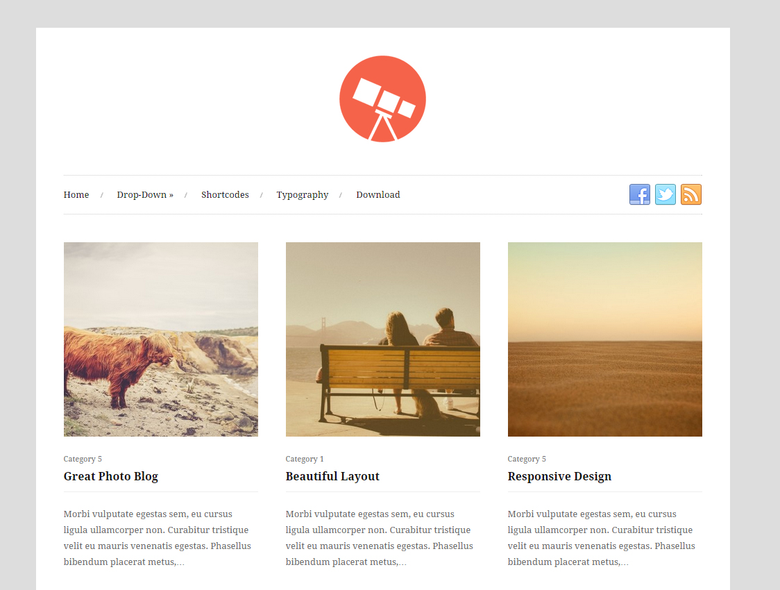 Photo Free Responsive Gallery WordPress Theme