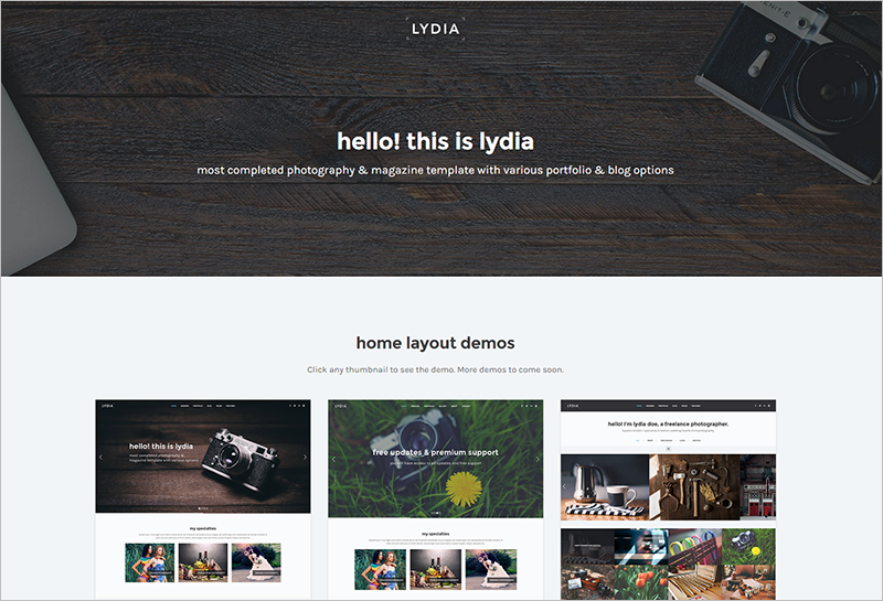 Photography & Magazine Site Template