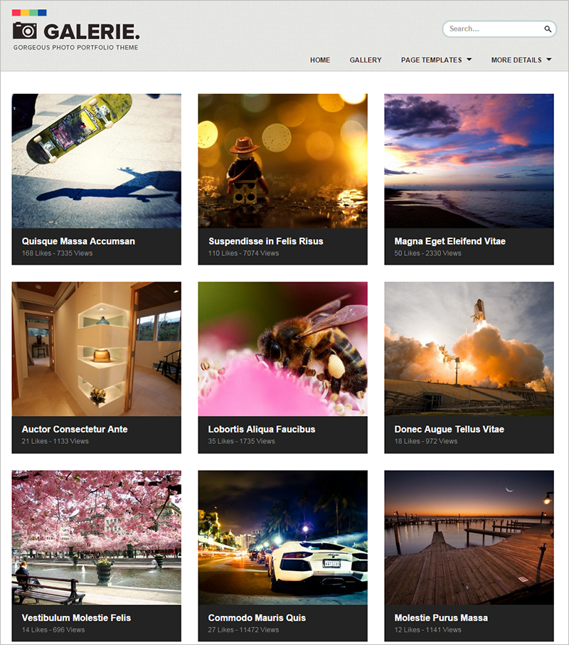 Photography Portfolio WordPress Template