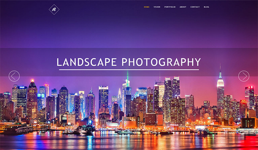 Photography Template Built With HTML5 & CSS3