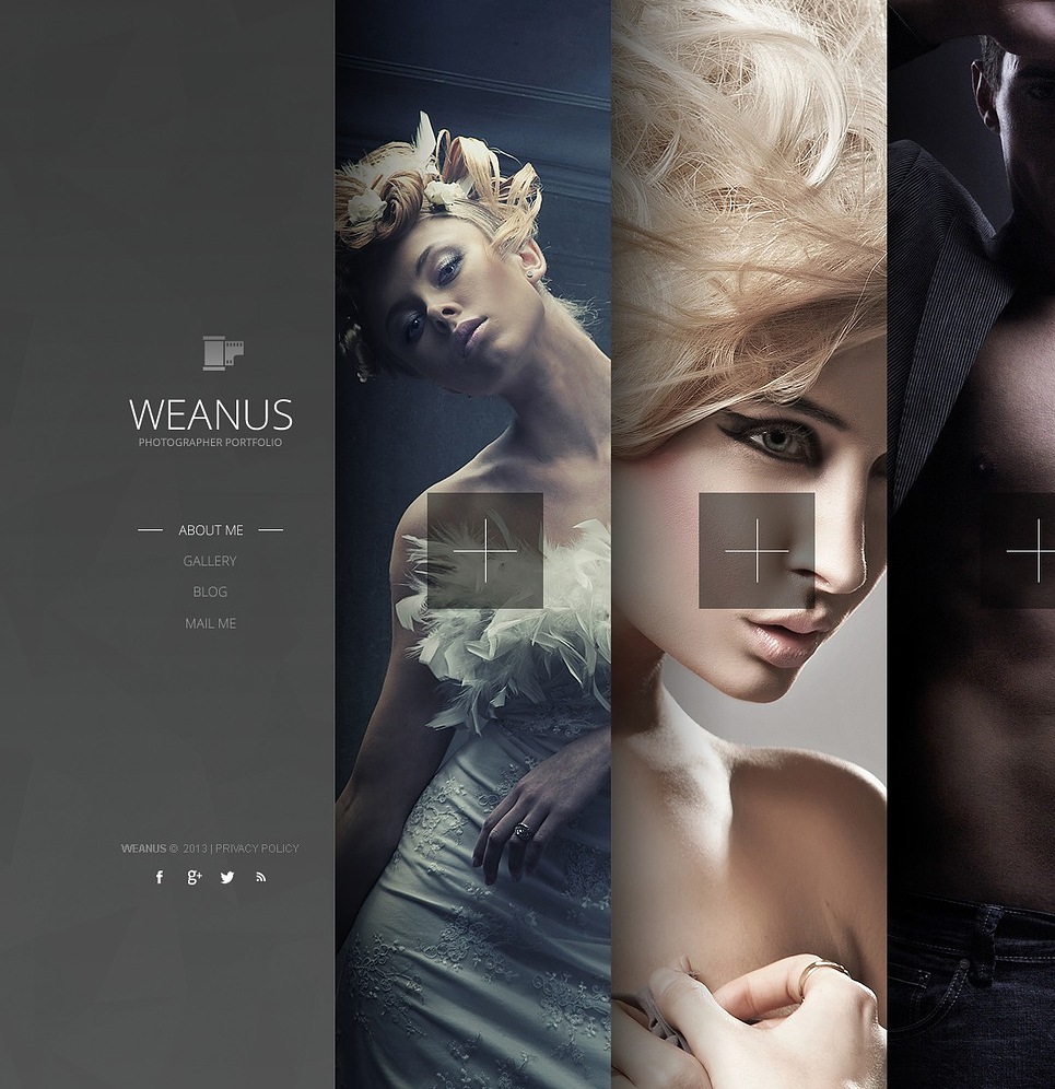 Photography Template With Ajax, Bootstrap